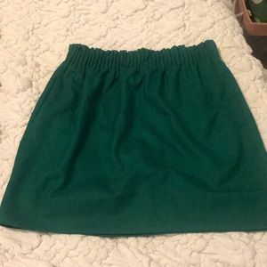 JCrew Factory- sidewalk skirt in emerald, size 4